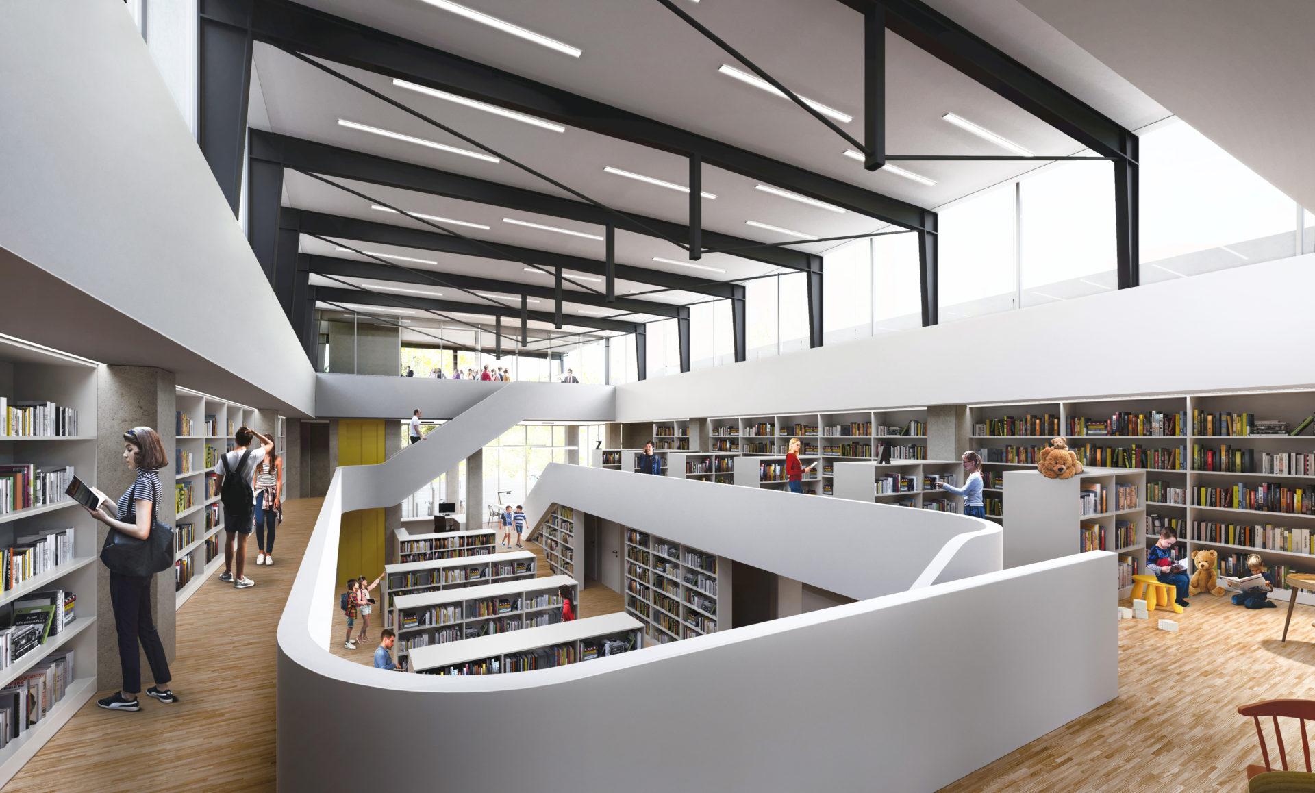 knihovna Olomouc - interiér